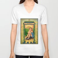 amy pond V-neck T-shirts featuring Amy Pond Art Nouveau by rointheta