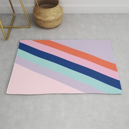 Abstract_multi color_lines_stripes_minimalism Rug