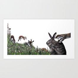 The Weasel War Dance Art Print