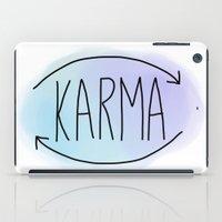 karma iPad Cases featuring Karma by Vwyz