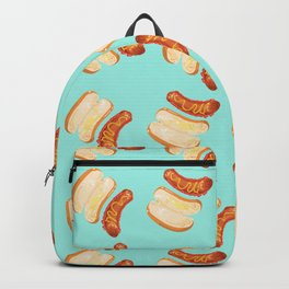 hot dog & buns, cyan Backpack