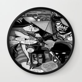 Bird of Steel Comix – #8 of 8  - (Society 6 POP-ART COLLECTION SERIES) Wall Clock