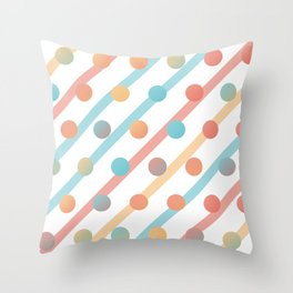 Simple saturated pattern Throw Pillow