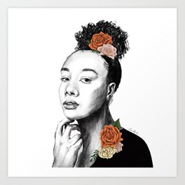 Autumn petals - floral portrait 2 of 3 Art Print