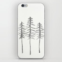 Pine Trees Pen and Ink Illustration iPhone Skin
