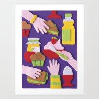 breakfast Art Prints featuring Breakfast by Jacopo Rosati
