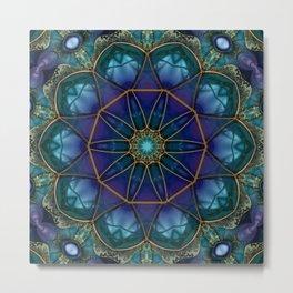 Moonstone Mandala Metal Print
