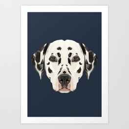 Dalmatian // Navy Art Print