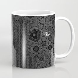 Love the strangeness in your thoughts. Vintage gothic pattern. Typography. Coffee Mug