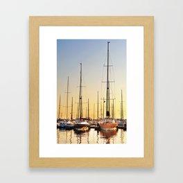 Luxury Sunset Sailing Framed Art Print