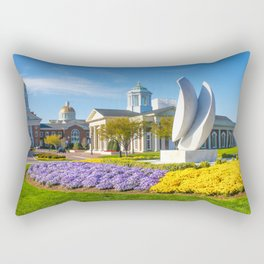 Christopher Newport University in Springtime Rectangular Pillow