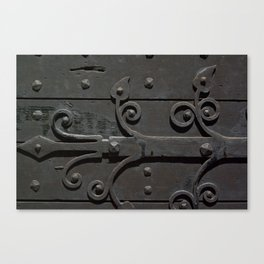 Ancient door Canvas Print