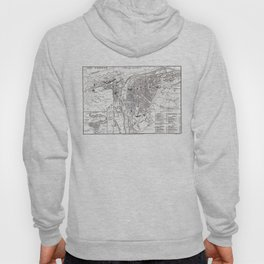 Vintage Map of Prague (1858) Hoody