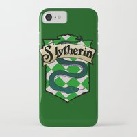 slytherin iPhone & iPod Cases featuring Slytherin Crest by AriesNamarie