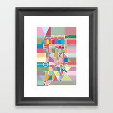 Letters3 Framed Art Print