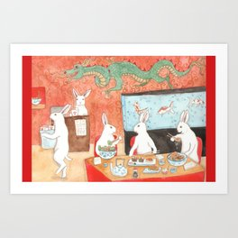 Sushi and Noodles Art Print