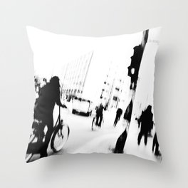 Berlin's streets in black and white Throw Pillow
