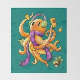 Autumn Octopus Throw Blanket