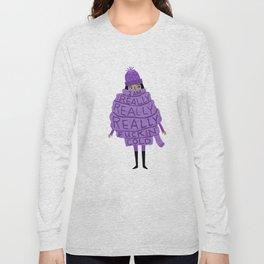 Really Really Really Fuckin Cold (Purple) Long Sleeve T-shirt