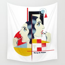 Famous people in a bauhaus style - Rossy de Palma Wall Tapestry