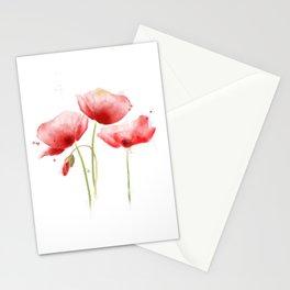 Poppy flowers Stationery Cards