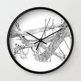tangled cedars Wall Clock