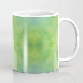 Kaleidoscopic design in soft green colors Coffee Mug