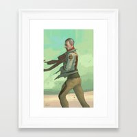 desert Framed Art Prints featuring Desert by Kelly Perry