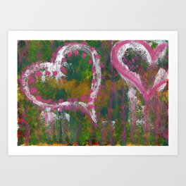 two hearts Art Print