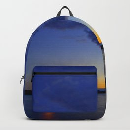 Moonlight in the blue night sky Backpack