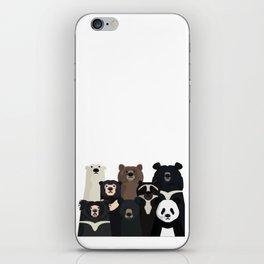 Bear family portrait iPhone Skin