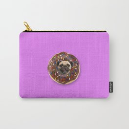 Pug Chocolate Donut Carry-All Pouch