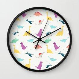 DINOSAURS DOODLES Wall Clock
