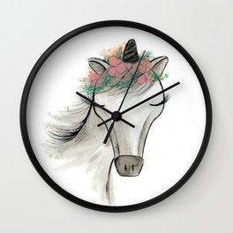 Zoey the Unicorn Wall Clock