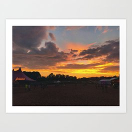 Sunset at Jubilee and the Hanger Art Print