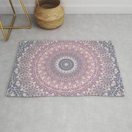 gray pink mandala Rug
