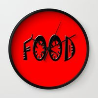 food Wall Clocks featuring Food by gbcimages