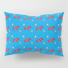 Dala Horse blue Pillow Sham
