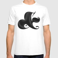 Bold Ampersand Mens Fitted Tee MEDIUM White