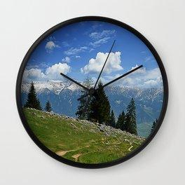 spring mountain Wall Clock