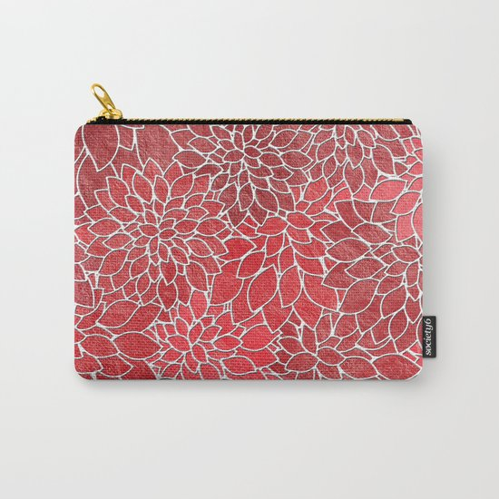Floral Abstract 20 Carry-All Pouch