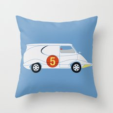 Tha Mach5 Van Throw Pillow