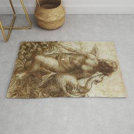 Leonardo da Vinci - Leda and the Swan Rug