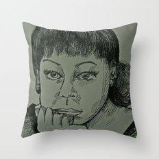 Adele Sketch Throw Pillow