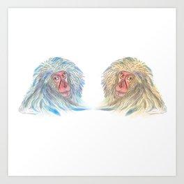 Macaco blues Art Print
