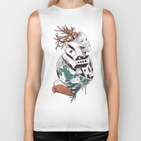 lost Biker Tanks featuring Lost by Norman Duenas