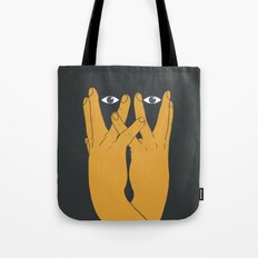 Hands mask Tote Bag