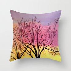 Winter's blush Throw Pillow