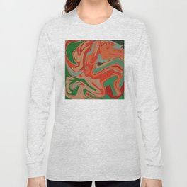 Abstract Colorful Pattern Long Sleeve T-shirt