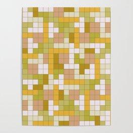 Tetris Camouflage Desert Poster